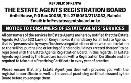 Consumer Protection Act And Estate Agents